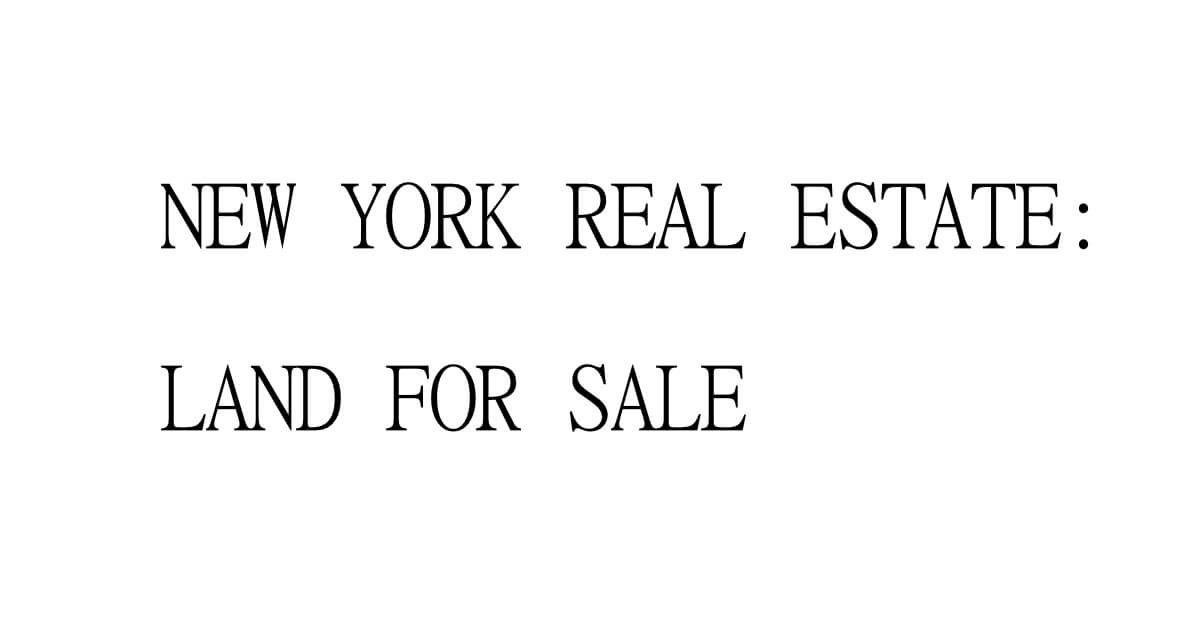 Residential vs commercial deals new york land for Nyc real estate for sale
